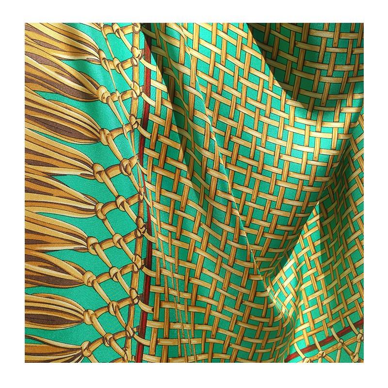 Hodvábna šatka Turquoise - detail