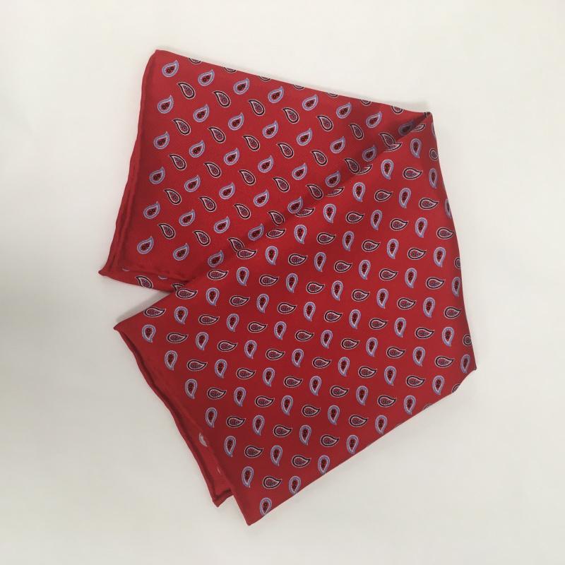 Hodvábna pánska šatka Paisley Red