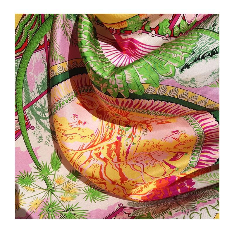 Hodvábna šatka Hula hula - detail