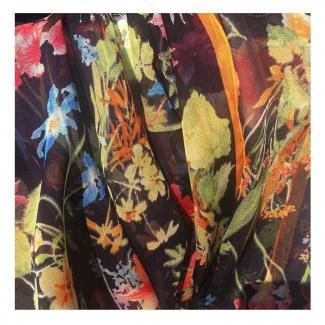 Hodvábny šál Floralies