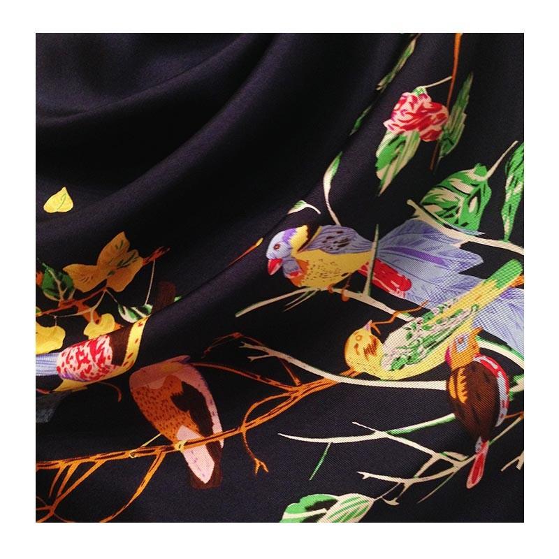 Hodvábna šatka Kushiro blue - detail
