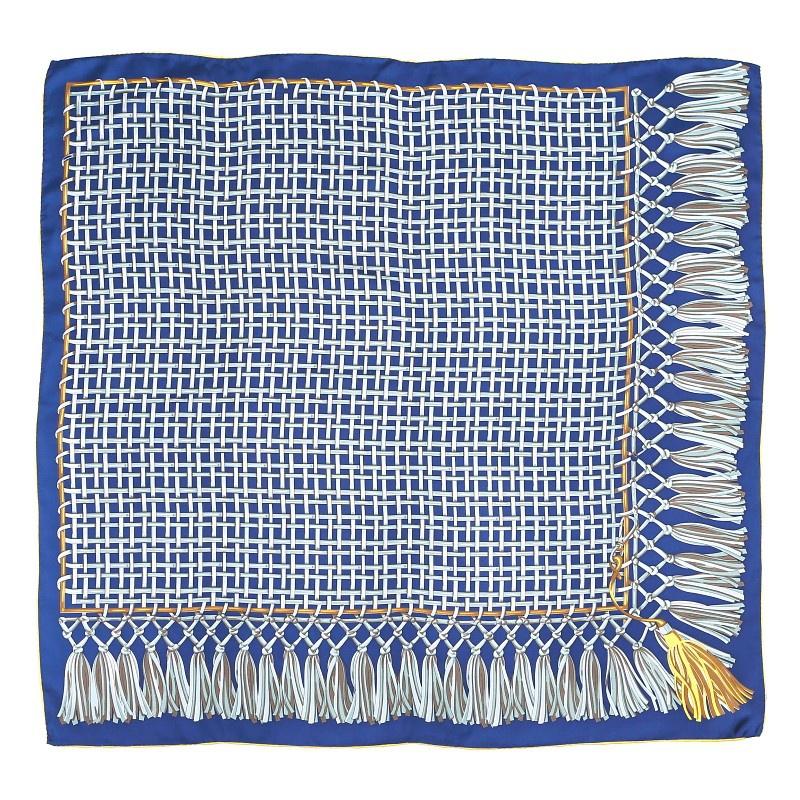 Hodvábna-šatka-blue-knot-90x90cm-modrá