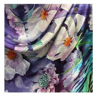Hodvábny šál Krásky Sedmokrásky