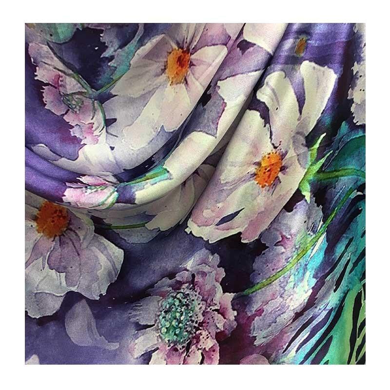 Hodvábny šál Krásky Sedmokrásky - detail 1