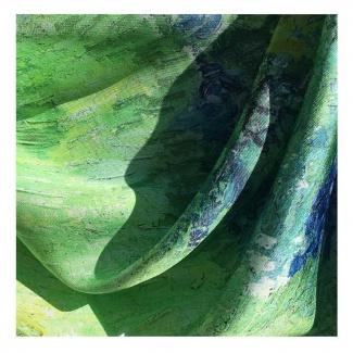 Hodvábna šatka Van Gogh - Le Jardin de Daubigny