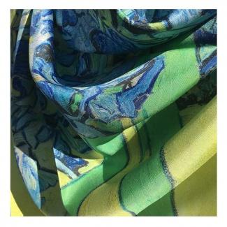 Hodvábna šatka Van Gogh - Iris