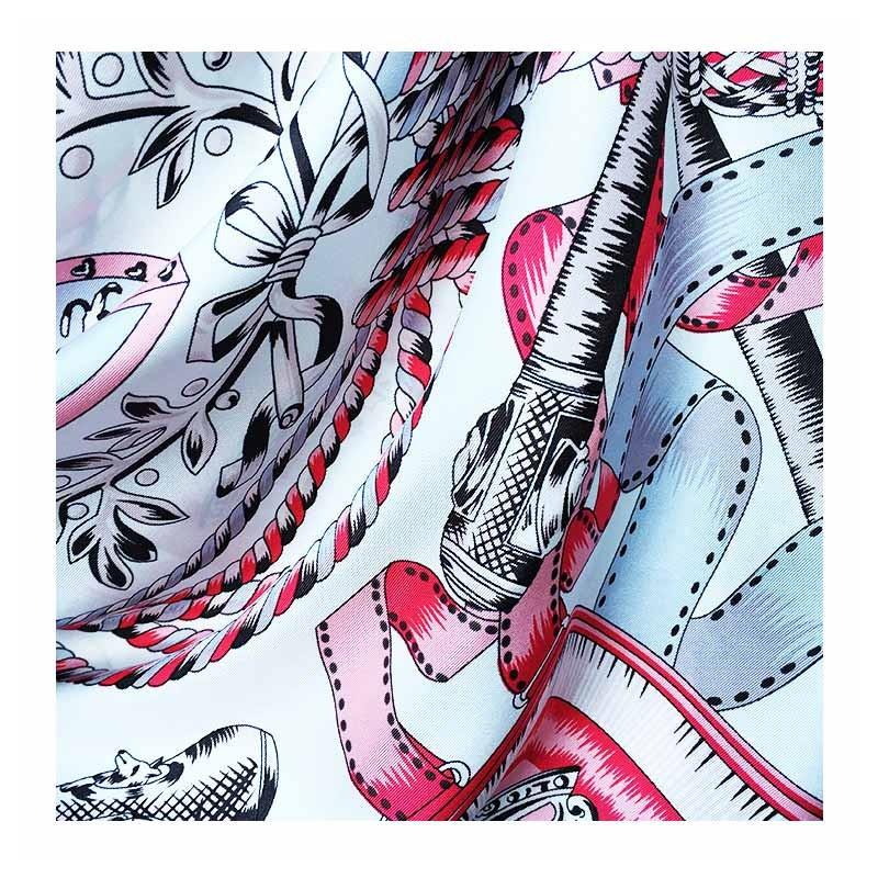 Hodvábna šatka Blason Rose - detail