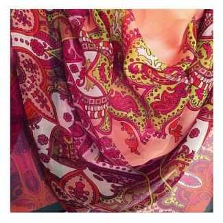 Hodvábna šatka Laura Biagiotti Orient - červená