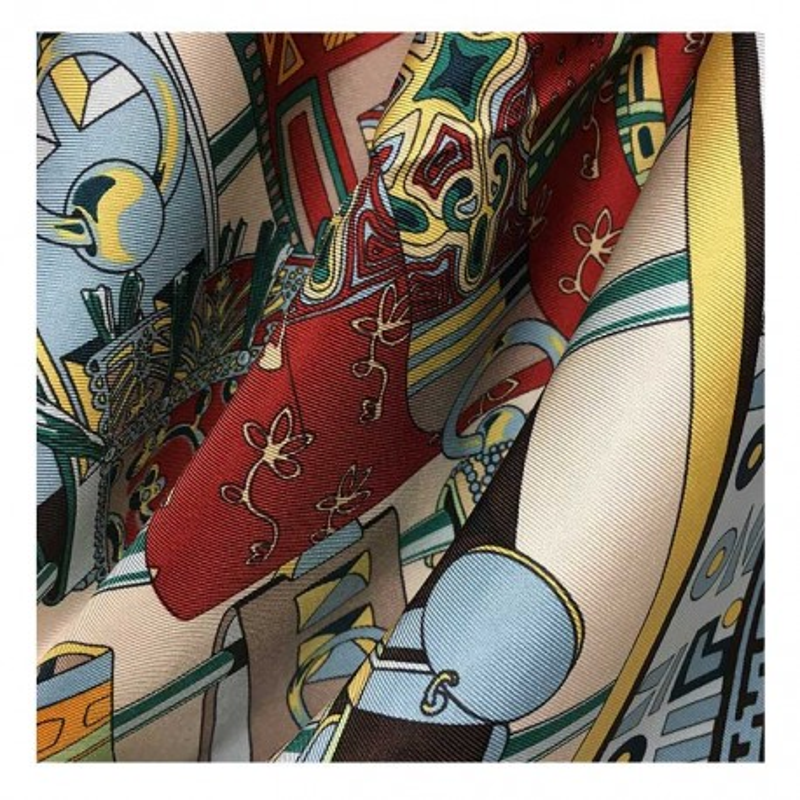Hodvábna šatka Takeko - detail