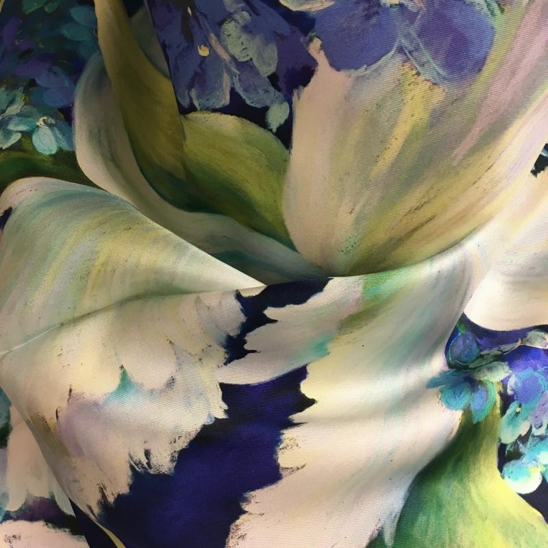Hodvábna šatka Hydrangea