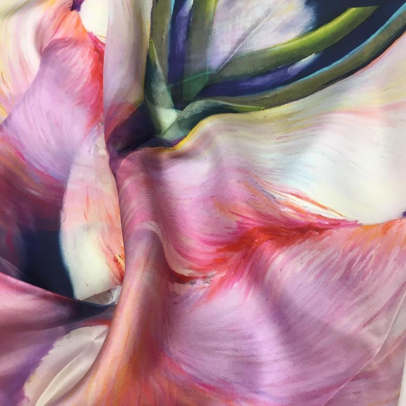 Hodvábna šatka Tulipa Cantata