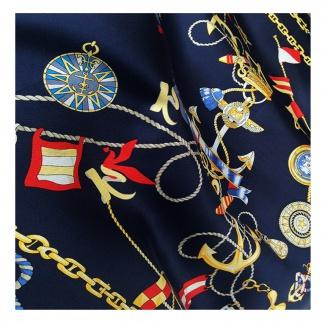 Hodvábna šatka Navy Blue