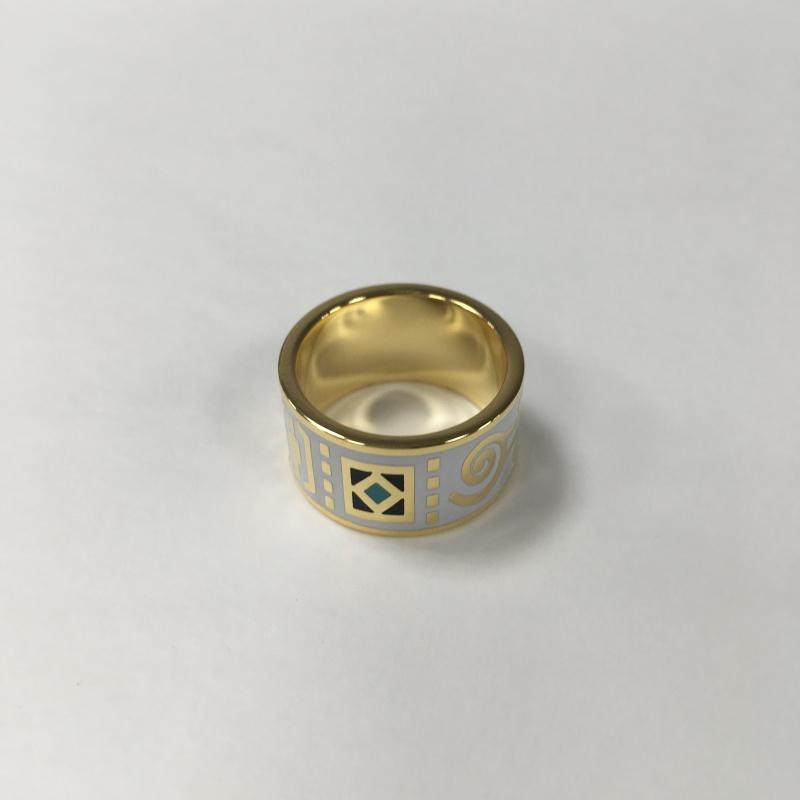 Krúžok na hodvábnu šatku Ascot White