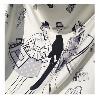Hodvábna šatka Fashionista - detail