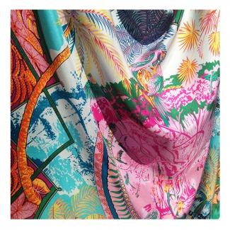 Hodvábna šatka Oahu - detail